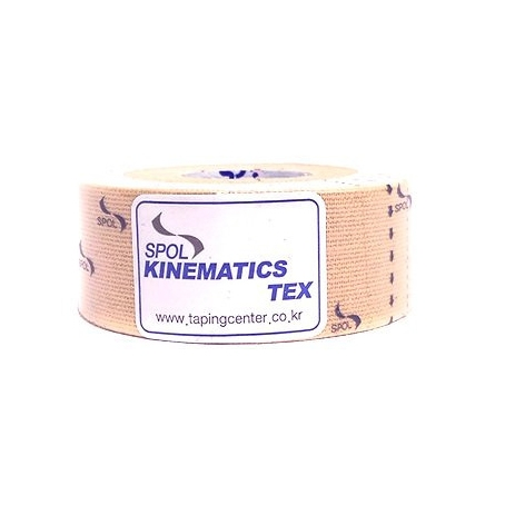Кинезио тейп SPOL TAPE Kinematics Tex 2,5см × 5м бежевый