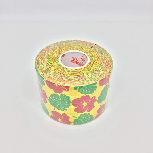 Кинезио тейп BBTape 5см × 5м Гавайи желтый