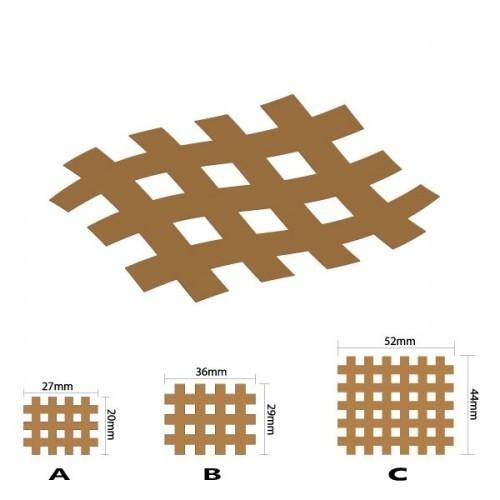 Кросс тейпы BB CROSS TAPE 2,8 см × 3,6 см (размер B) бежевый