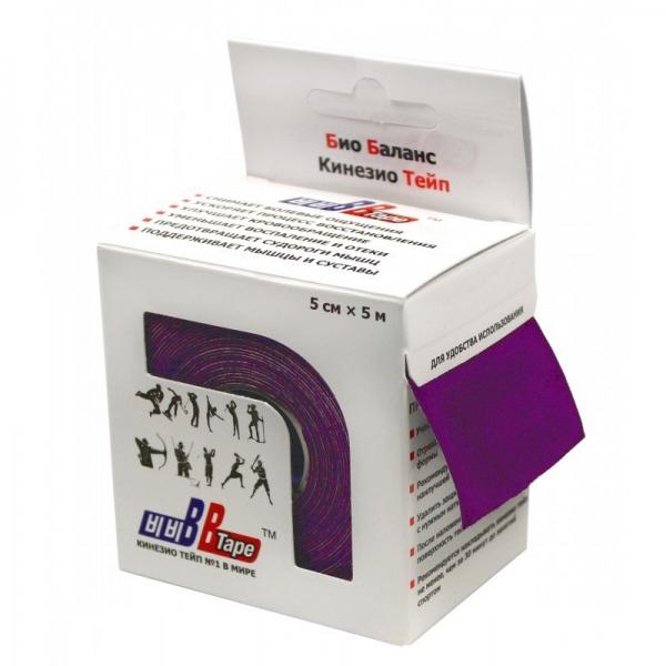 Кинезио тейп BBTape 5см × 5м фиолетовый