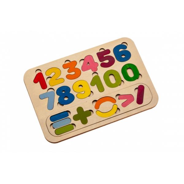 Рамка-вкладыш деревянная «ЦИФРЫ И СЧЁТ»