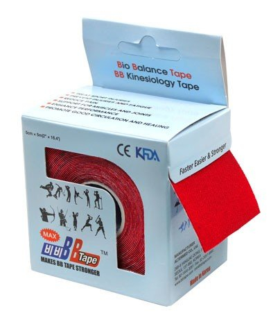 Кинезио тейп BBTape MAX 5см × 5м красный