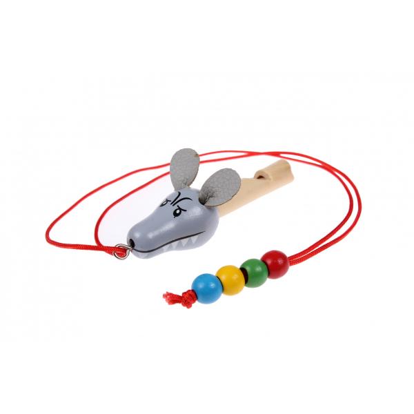 Свисток деревянный на шнурке